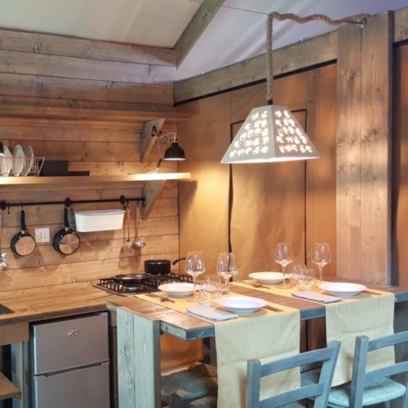 Lodges Oliva e Grano cucina
