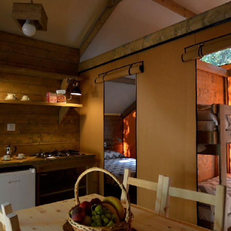 Lodges Oliva e Grano dettaglio cucina