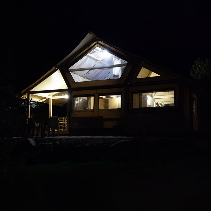 Tenda Uva di notte